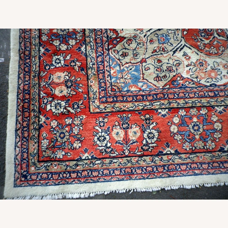 Handmade Vintage Persian Mahal Rug - image-9