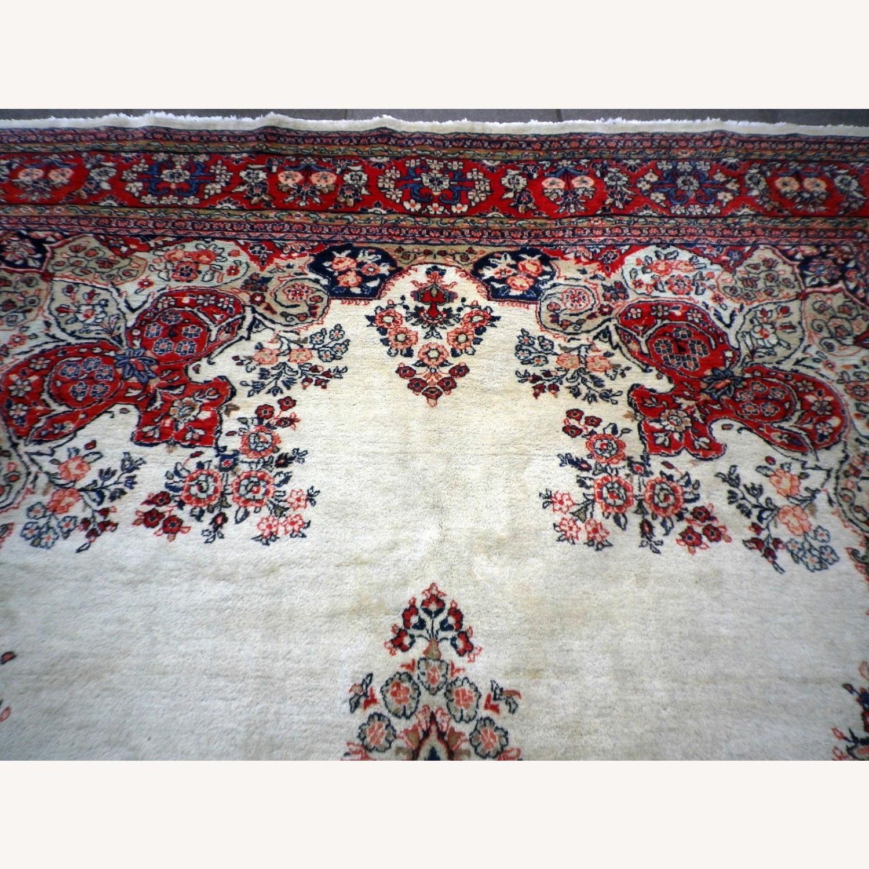 Handmade Vintage Persian Mahal Rug - image-2
