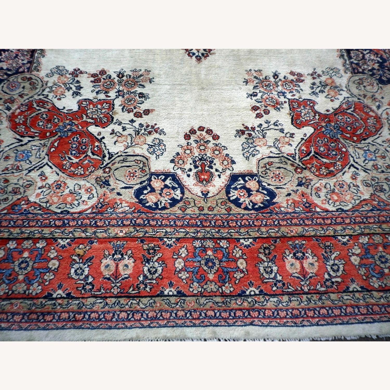 Handmade Vintage Persian Mahal Rug - image-7