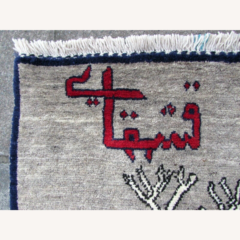 Handmade Vintage Persian Gabbeh Rug - image-4