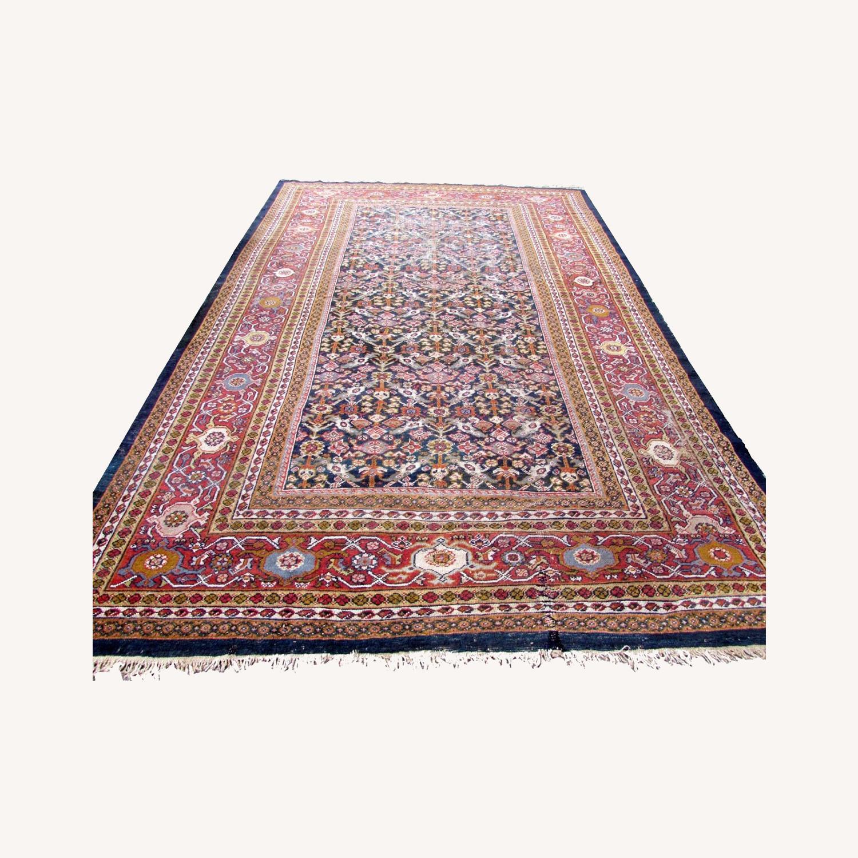Handmade Antique Persian Hamadan Distressed Rug - image-0