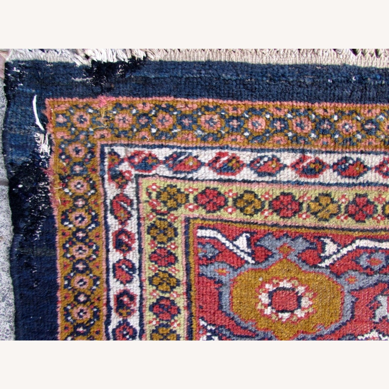 Handmade Antique Persian Hamadan Distressed Rug - image-3