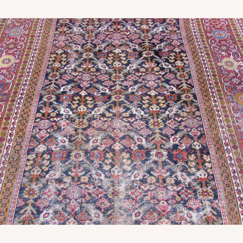 Handmade Antique Persian Hamadan Distressed Rug - image-5