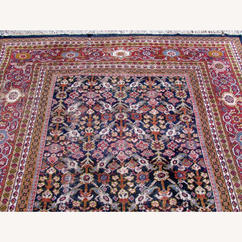 Handmade Antique Persian Hamadan Distressed Rug - image-8