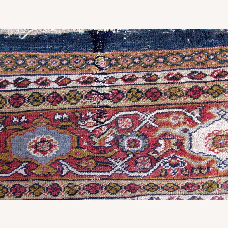 Handmade Antique Persian Hamadan Distressed Rug - image-7