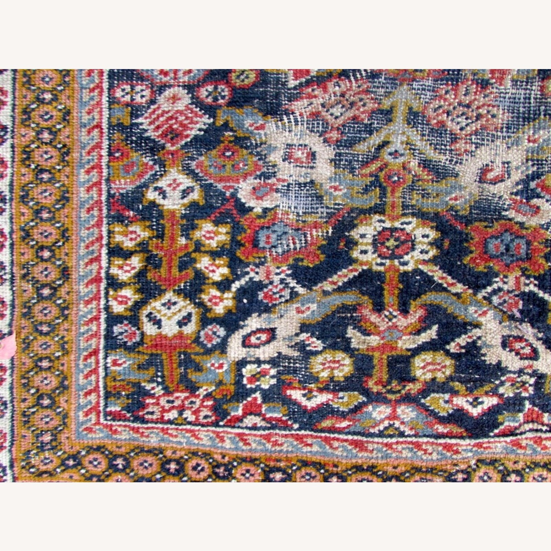 Handmade Antique Persian Hamadan Distressed Rug - image-2