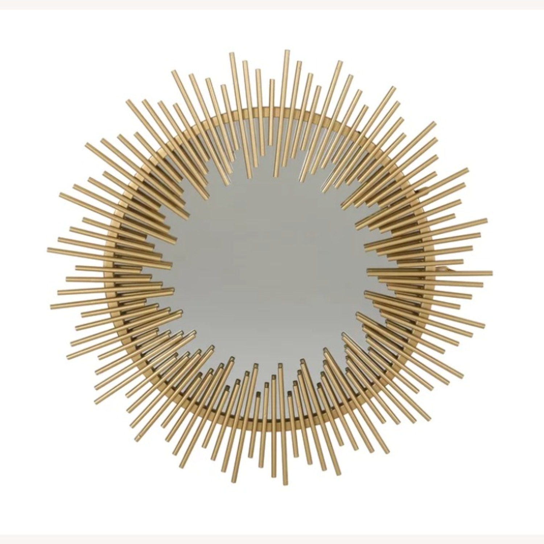 Wayfair Modern Gold Sunburst Mirror - image-3