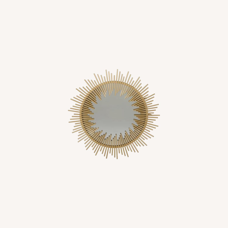 Wayfair Modern Gold Sunburst Mirror - image-0