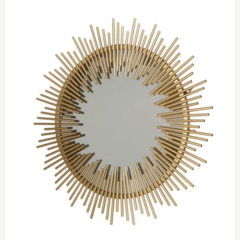 Wayfair Modern Gold Sunburst Mirror - image-2