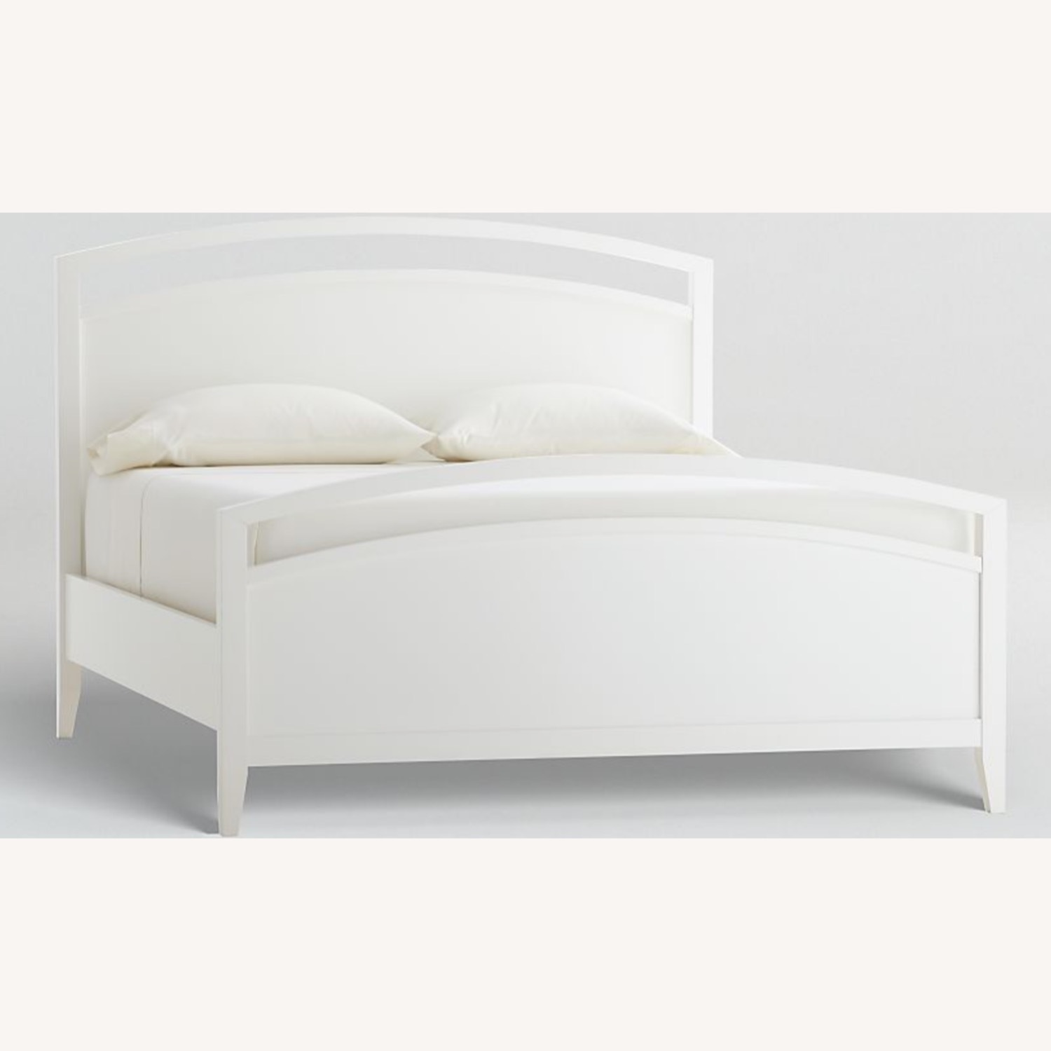 Crate & Barrel Arch White Queen Wooden Bed - image-1