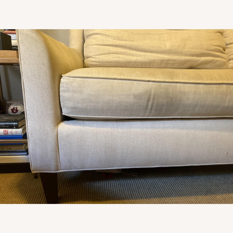 "Pottery Barn 80"" Sofa - Beverly Upholstered - image-6"