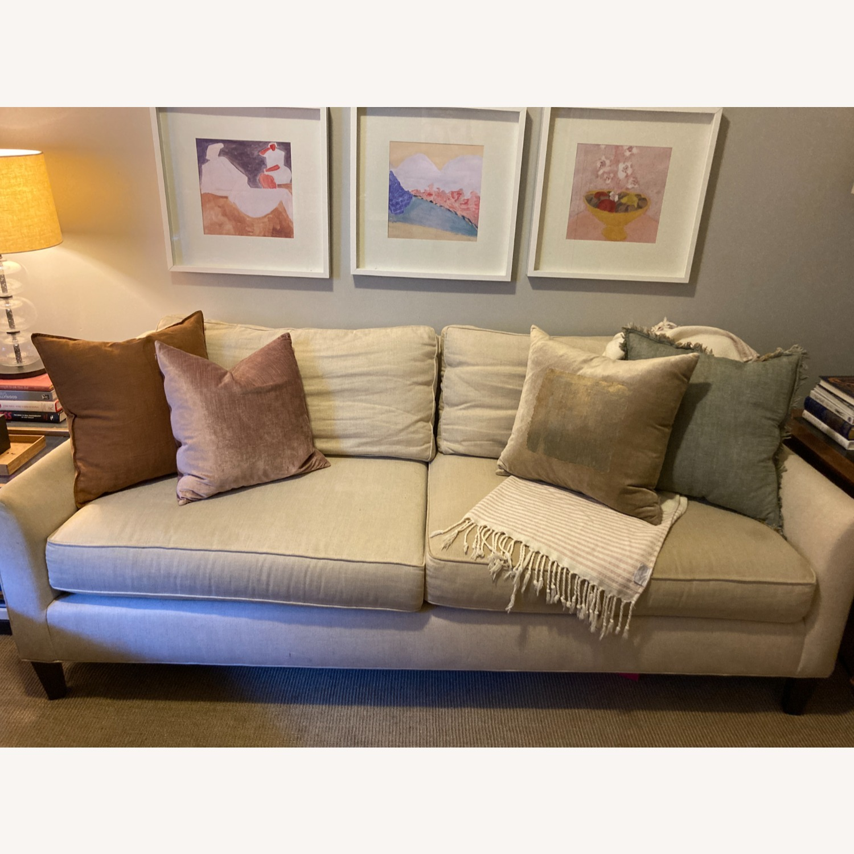 "Pottery Barn 80"" Sofa - Beverly Upholstered - image-0"
