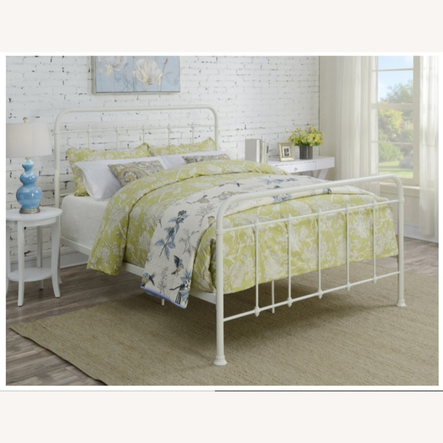 Pulaski All-in-One Curved Queen Metal Bed, White - image-3