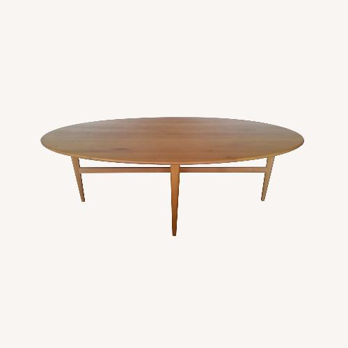 Used ABC Carpet and Home Belgian Oak Oval Dining Table for sale on AptDeco