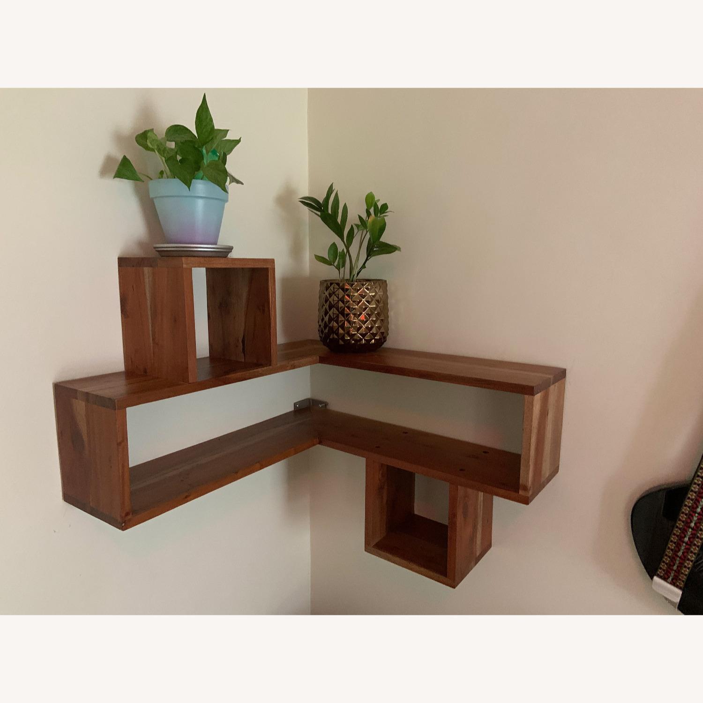 CB2 Wood Corner Shelf - image-2