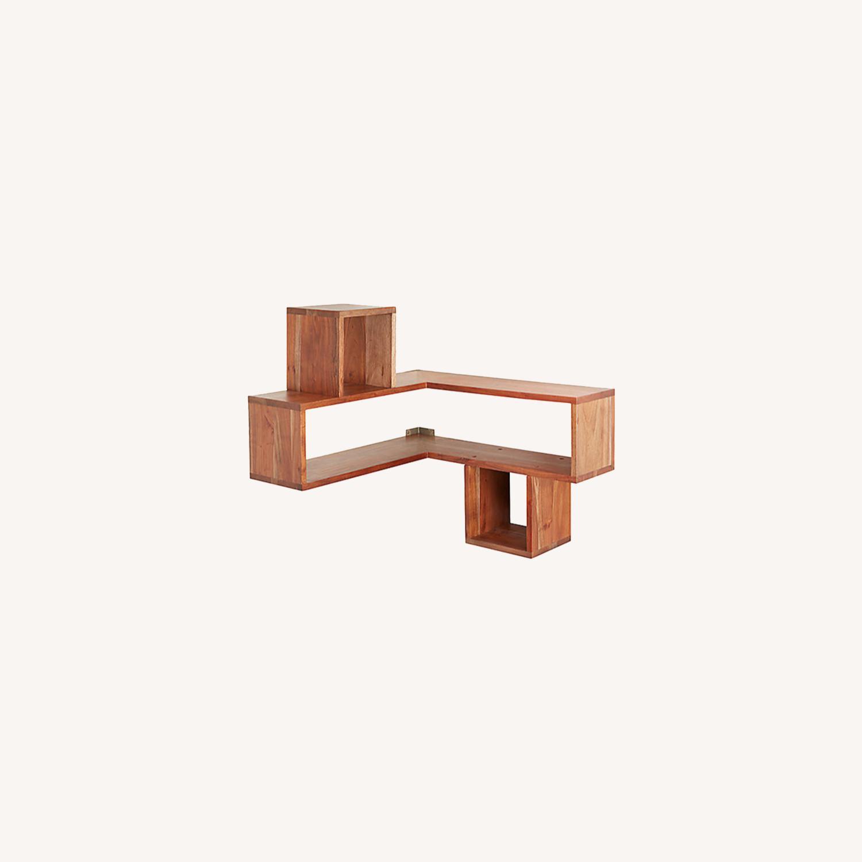 CB2 Wood Corner Shelf - image-0