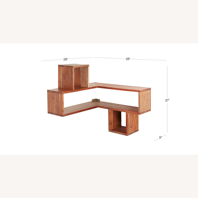 CB2 Wood Corner Shelf - image-1