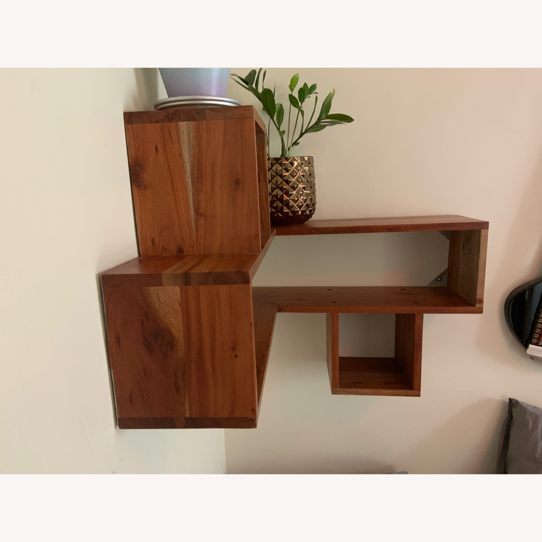 CB2 Wood Corner Shelf - image-3