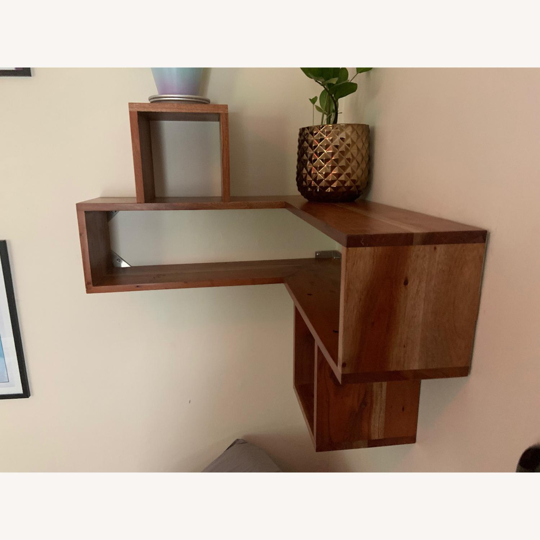 CB2 Wood Corner Shelf - image-4