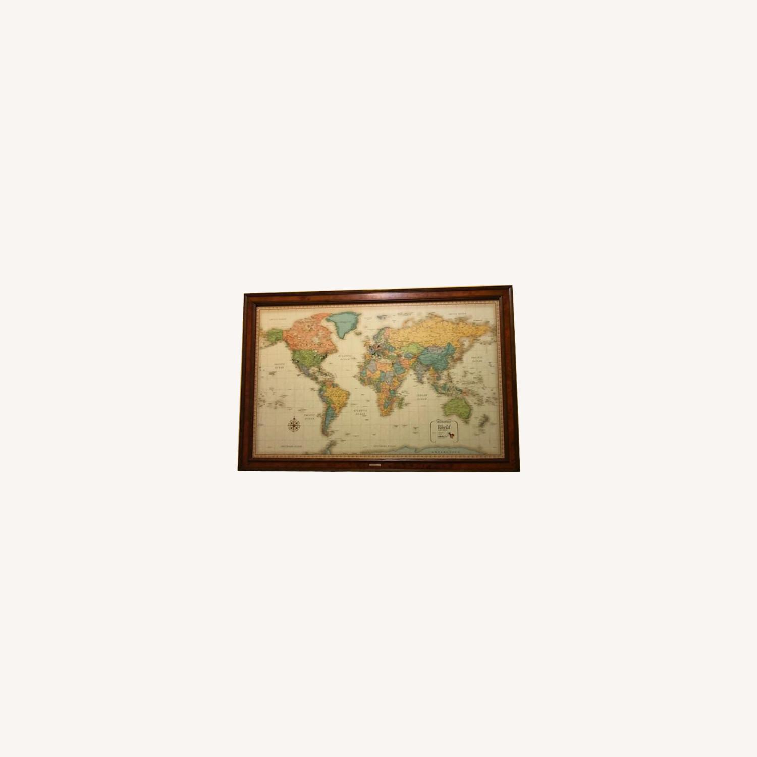 Frontgate Antique World Map - image-0