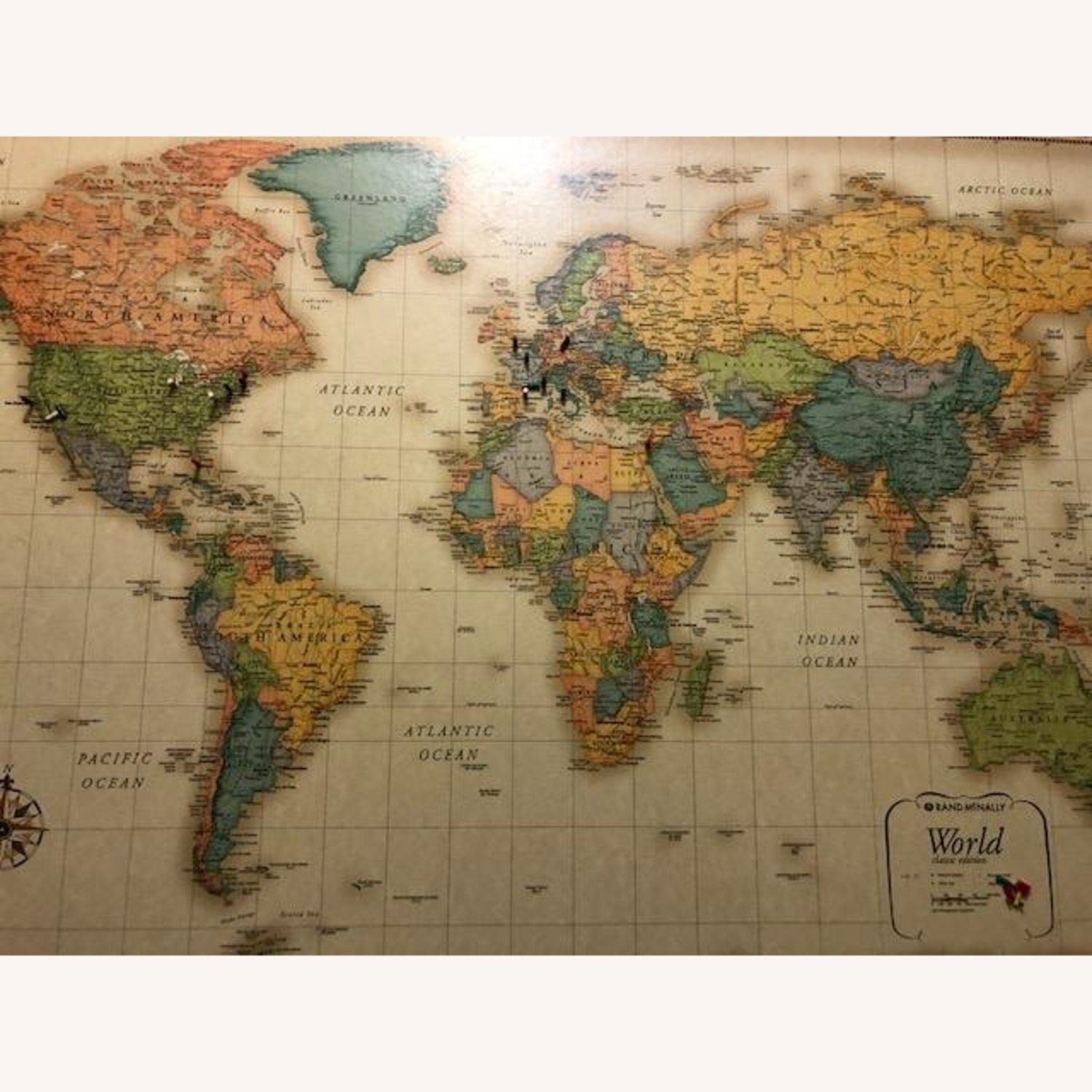 Frontgate Antique World Map - image-2
