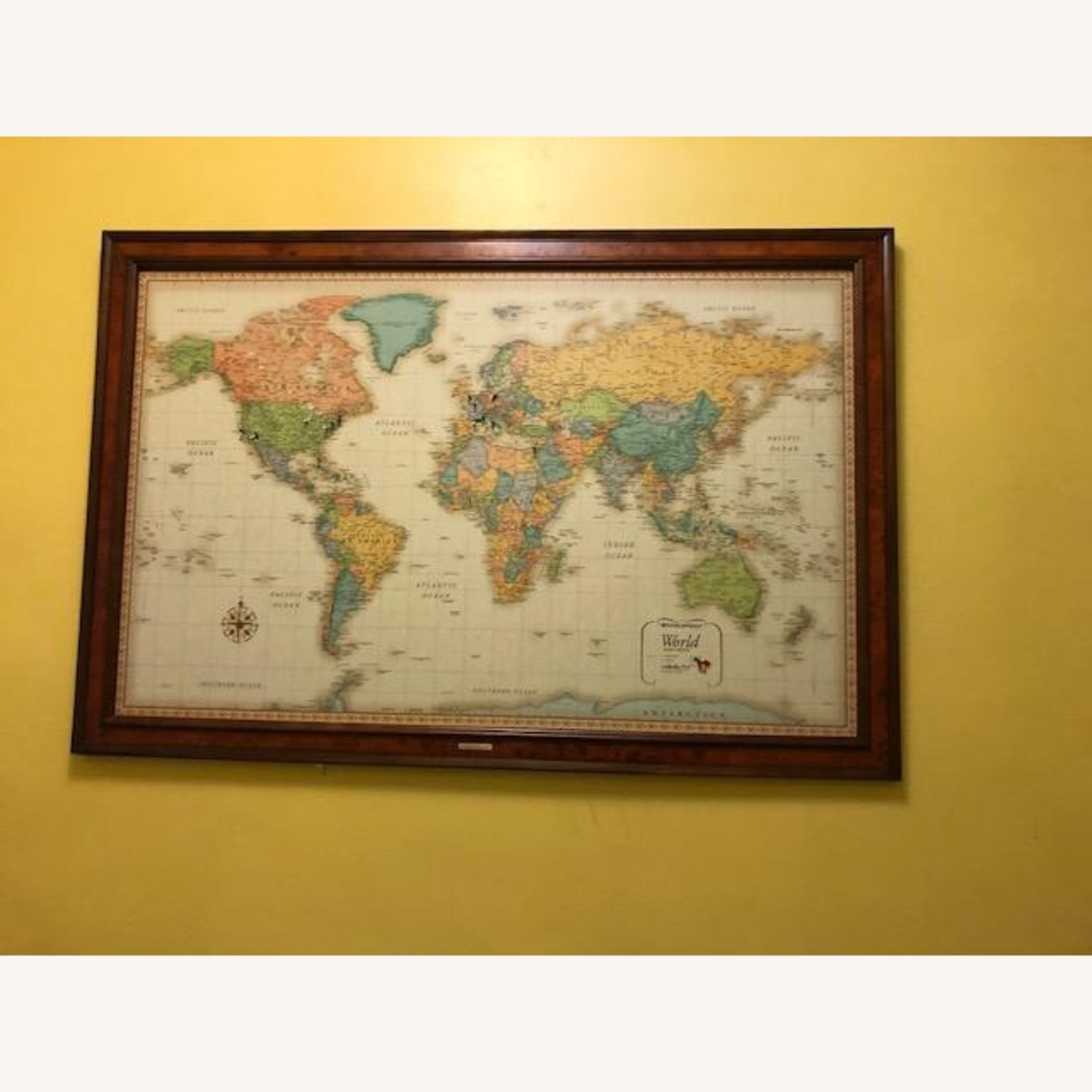 Frontgate Antique World Map - image-1