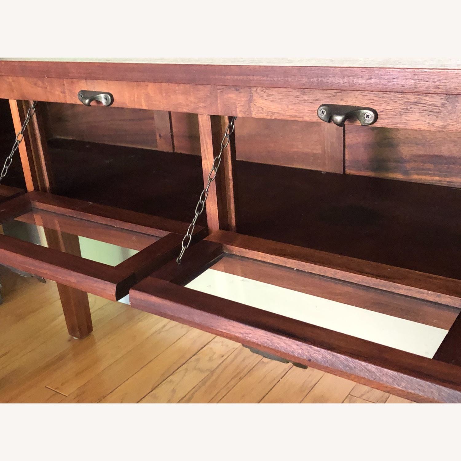 Pottery Barn Buffet / Sideboard with Glass Front Doors - image-3