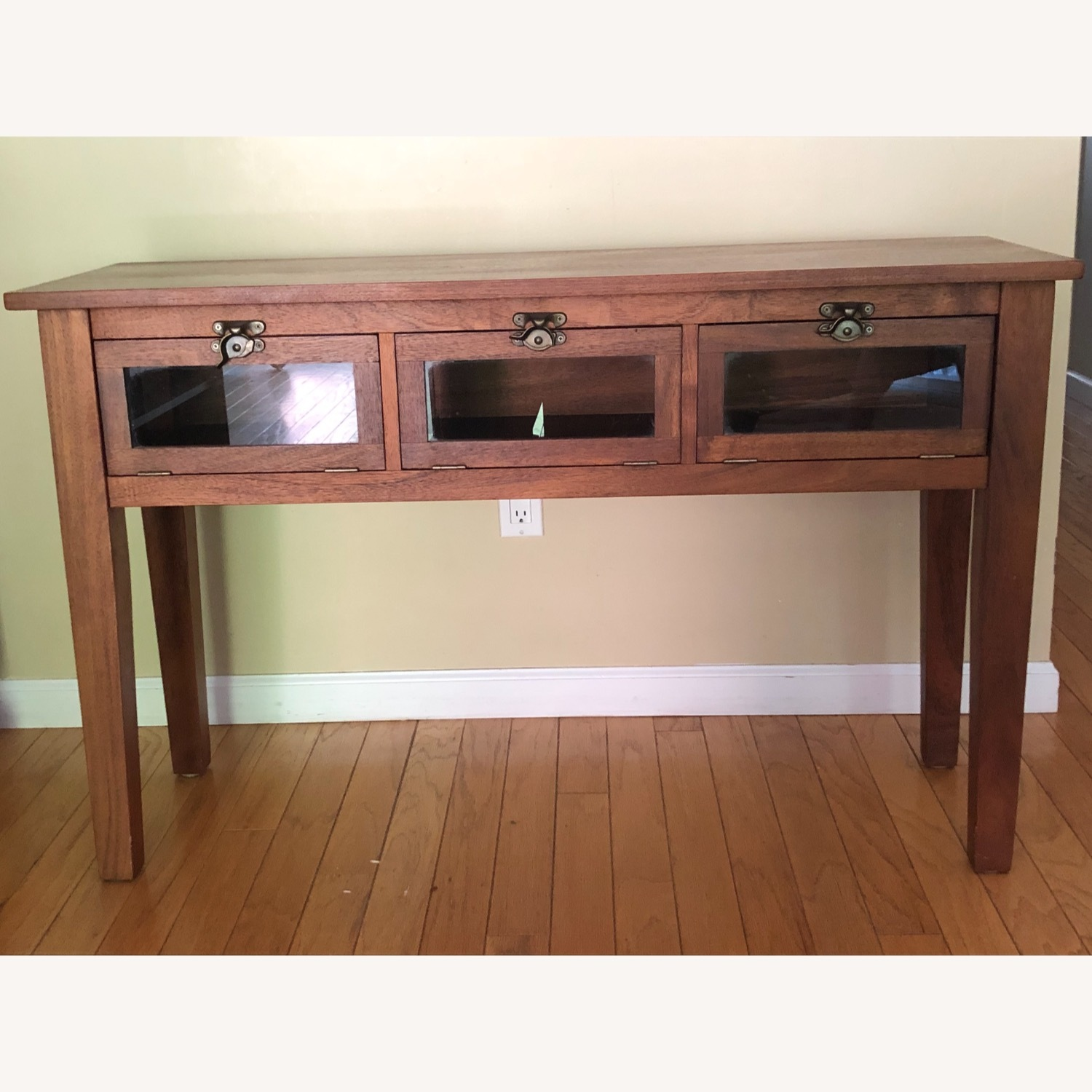 Pottery Barn Buffet / Sideboard with Glass Front Doors - image-1