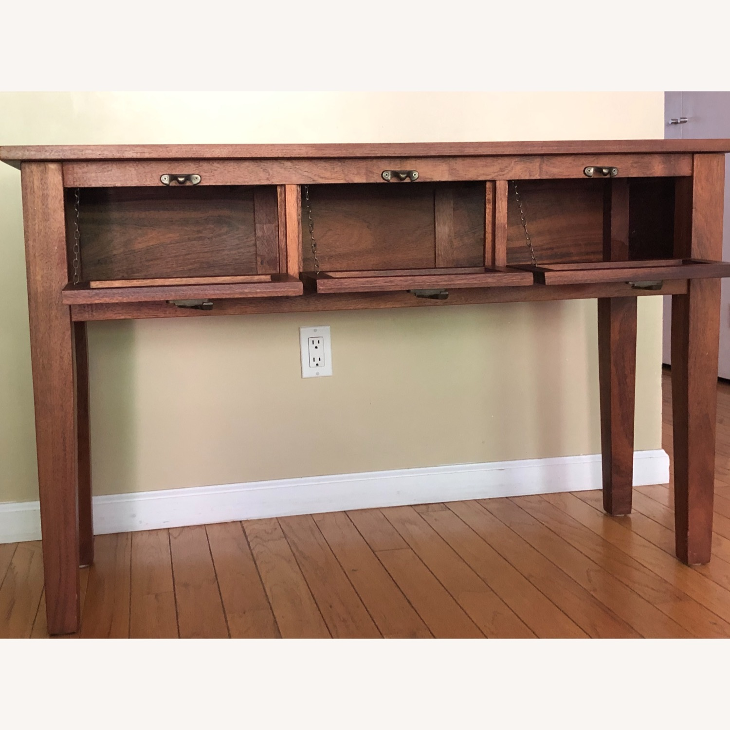 Pottery Barn Buffet / Sideboard with Glass Front Doors - image-2