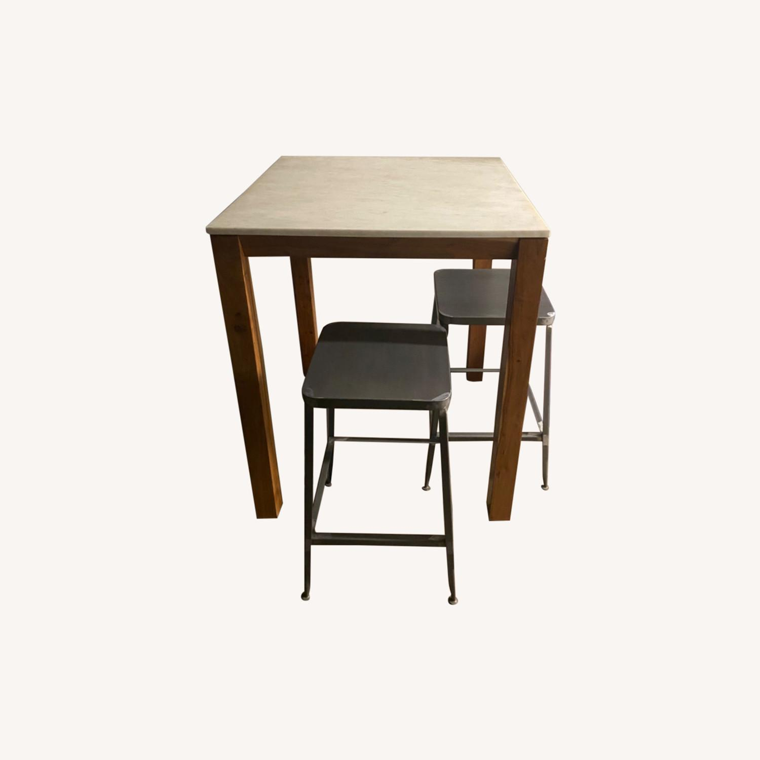 CB2 Hightop and Chairs - image-0