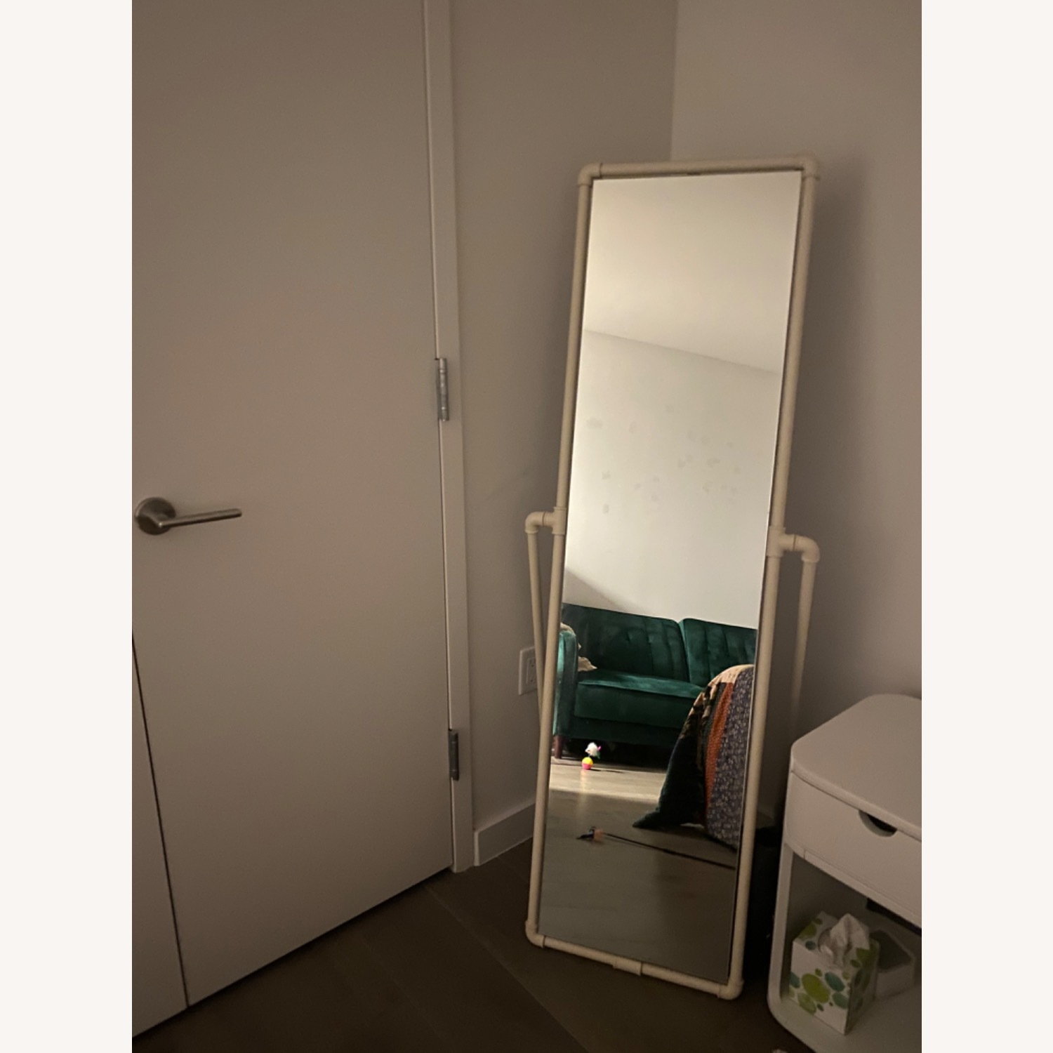 Urban Outfitters Industrial Pipe Standing Full-length Mirror - image-1