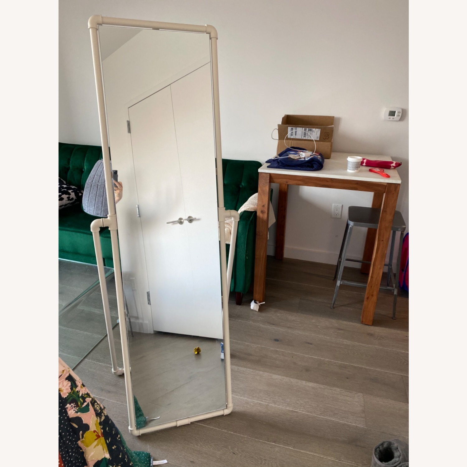 Urban Outfitters Industrial Pipe Standing Full-length Mirror - image-3