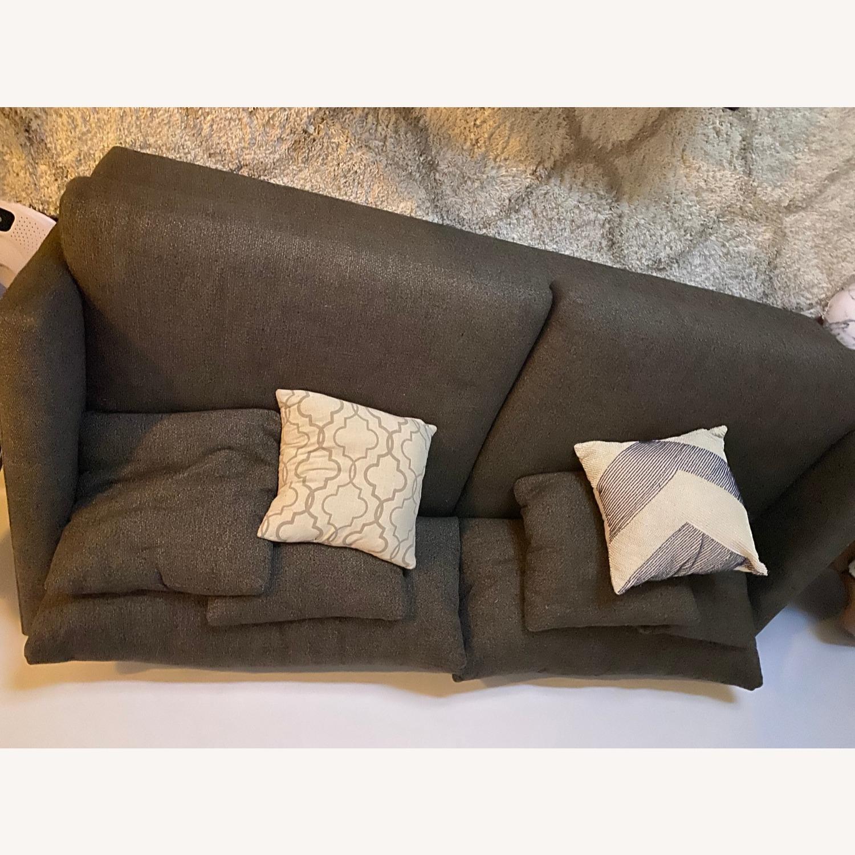 "Crate & Barrel Lounge II 93"" Sofa - image-6"