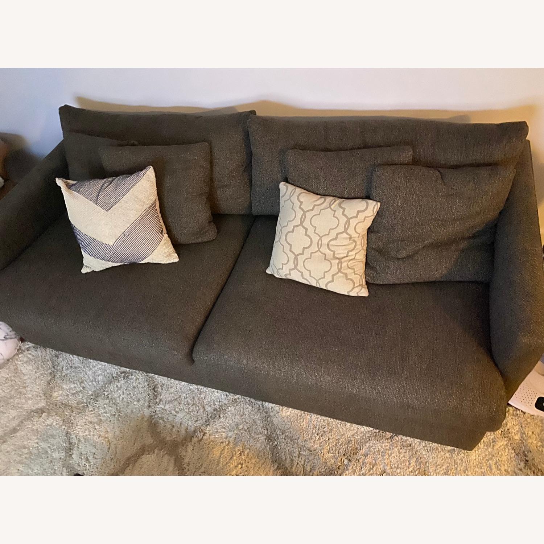 "Crate & Barrel Lounge II 93"" Sofa - image-3"