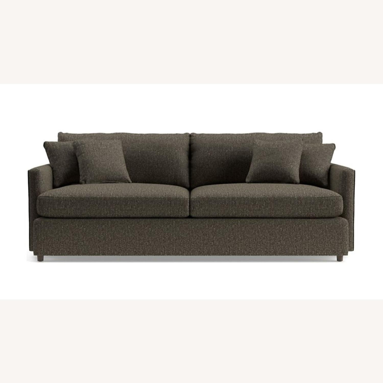 "Crate & Barrel Lounge II 93"" Sofa - image-0"