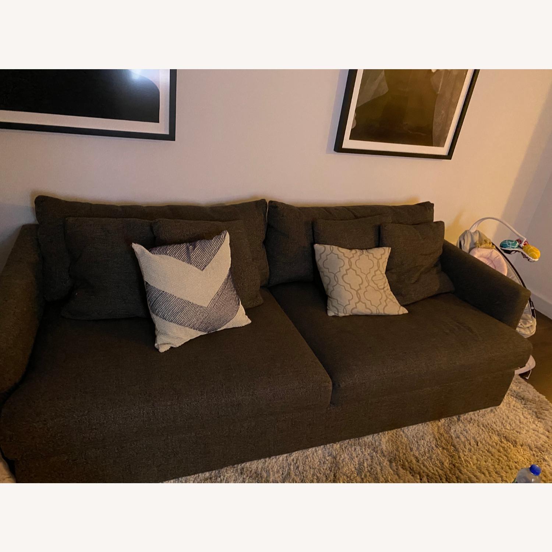 "Crate & Barrel Lounge II 93"" Sofa - image-1"