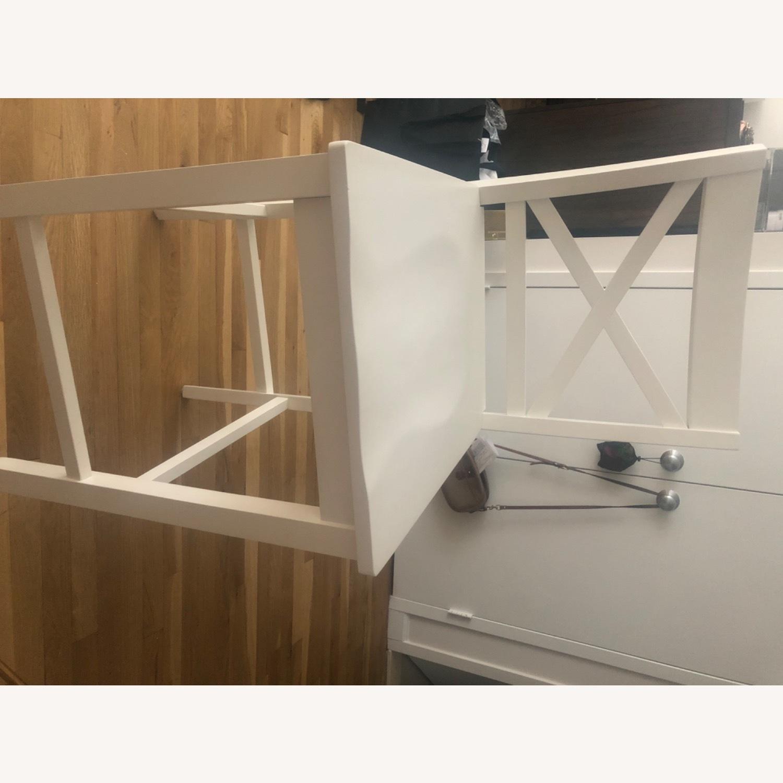3 Tall White Bar Stools - image-3
