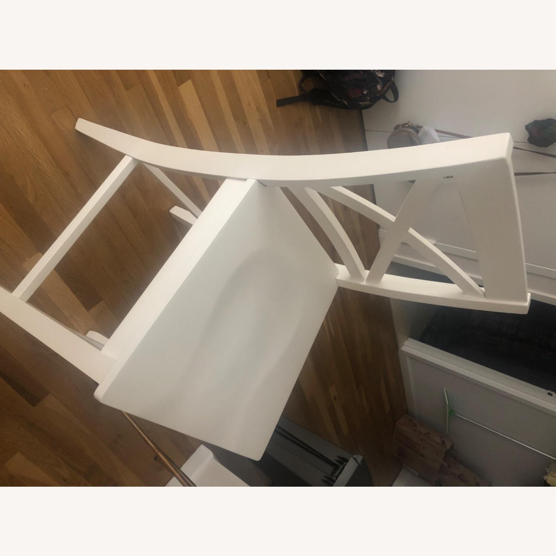 3 Tall White Bar Stools - image-2