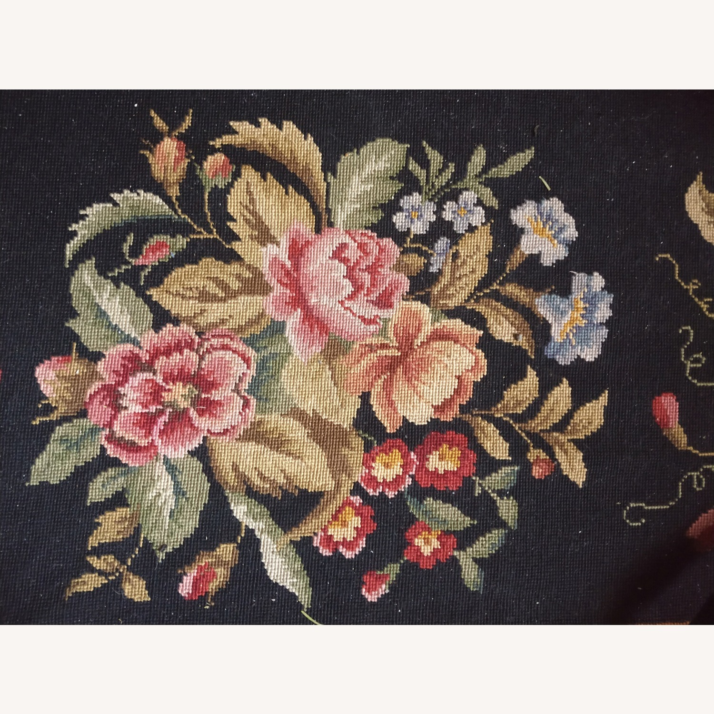 Hand Woven Needlework Vintage Rug - image-3
