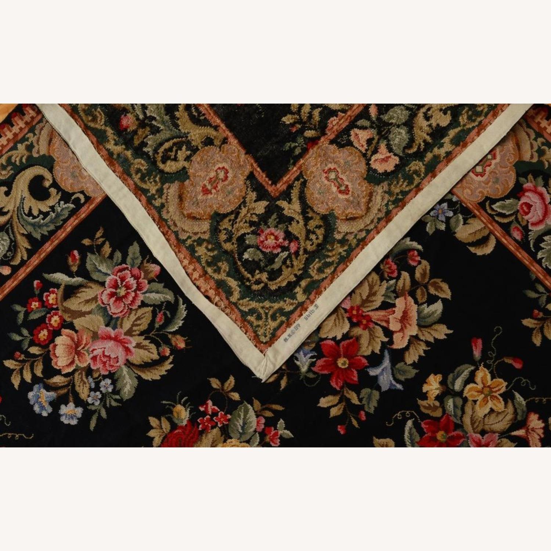 Hand Woven Needlework Vintage Rug - image-2