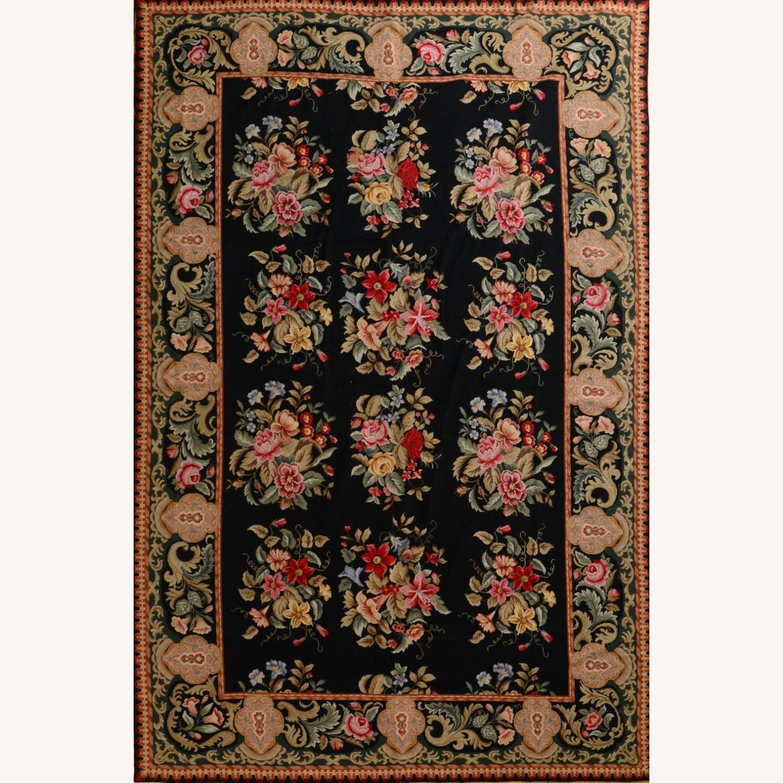 Hand Woven Needlework Vintage Rug - image-1