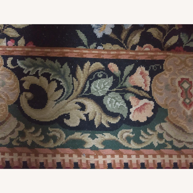 Hand Woven Needlework Vintage Rug - image-4