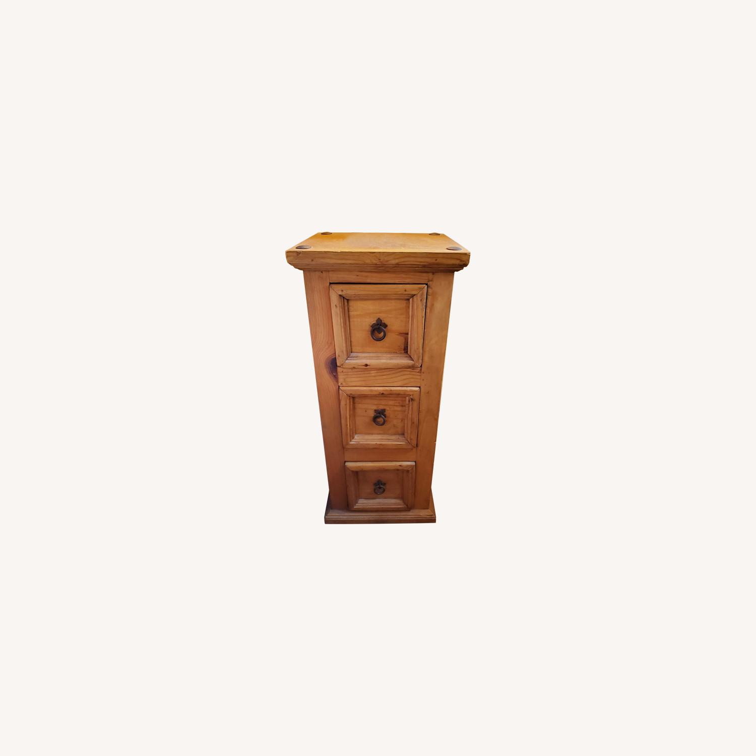 Knotty Pine Nightstand or Side Table/tower - image-0