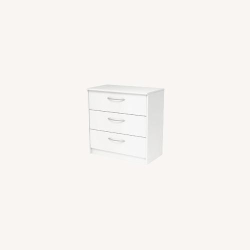 Used Zipcode Design Karis 3 Drawer Dresser in White for sale on AptDeco