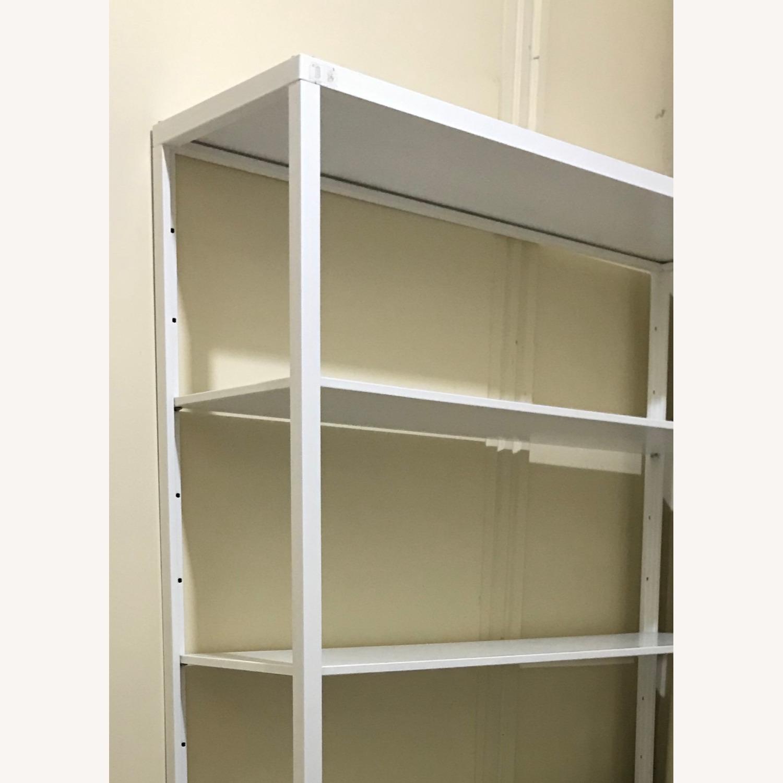 IKEA White Metal Adjustable Shelves + 2 drawers - image-3
