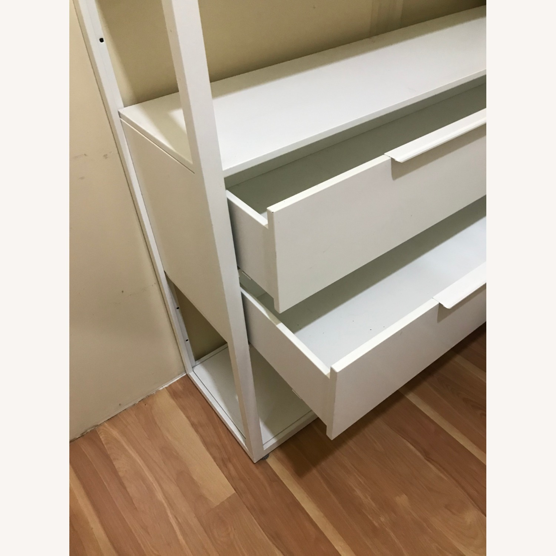 IKEA White Metal Adjustable Shelves + 2 drawers - image-2