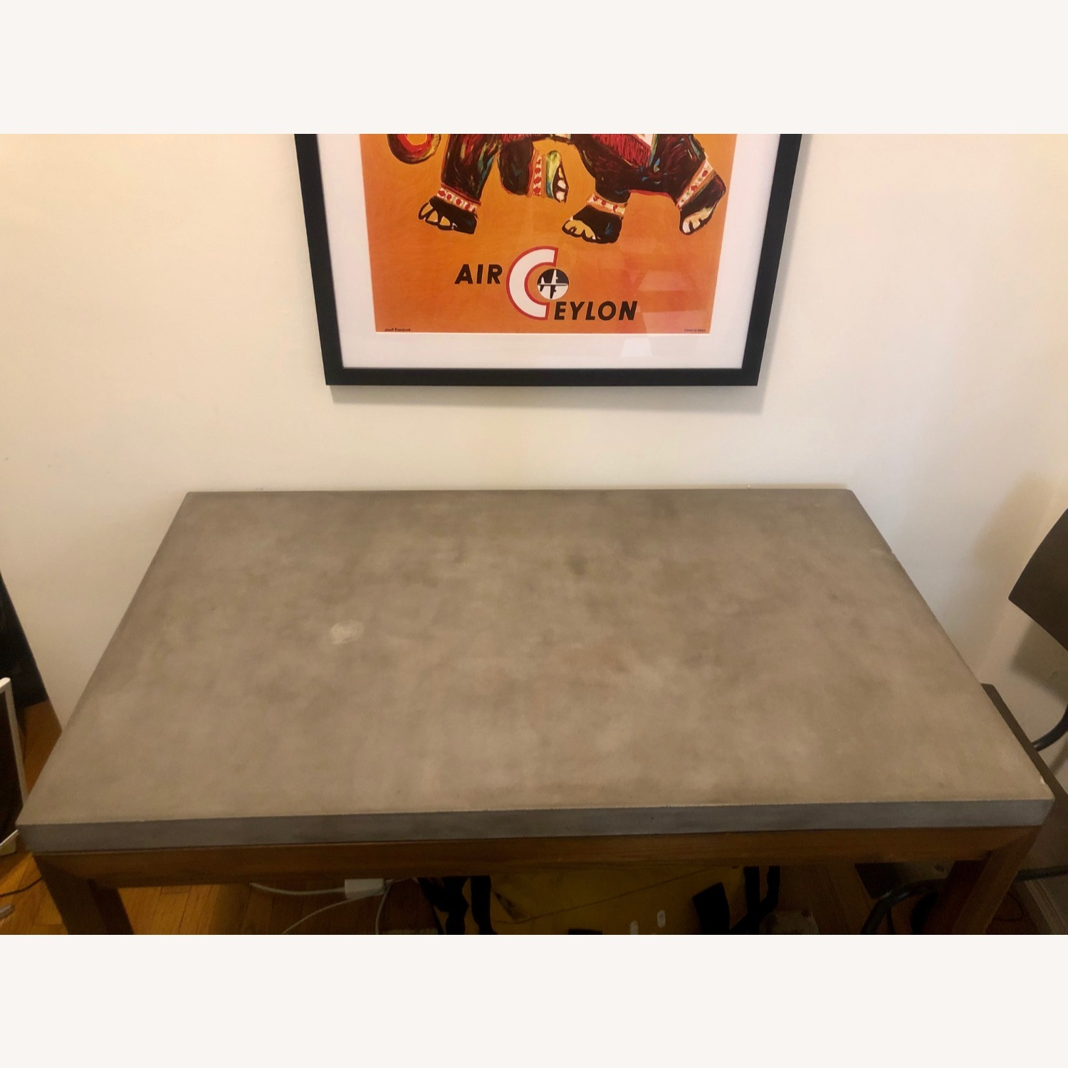 Crate & Barrel Concrete Top Dining Table - image-3