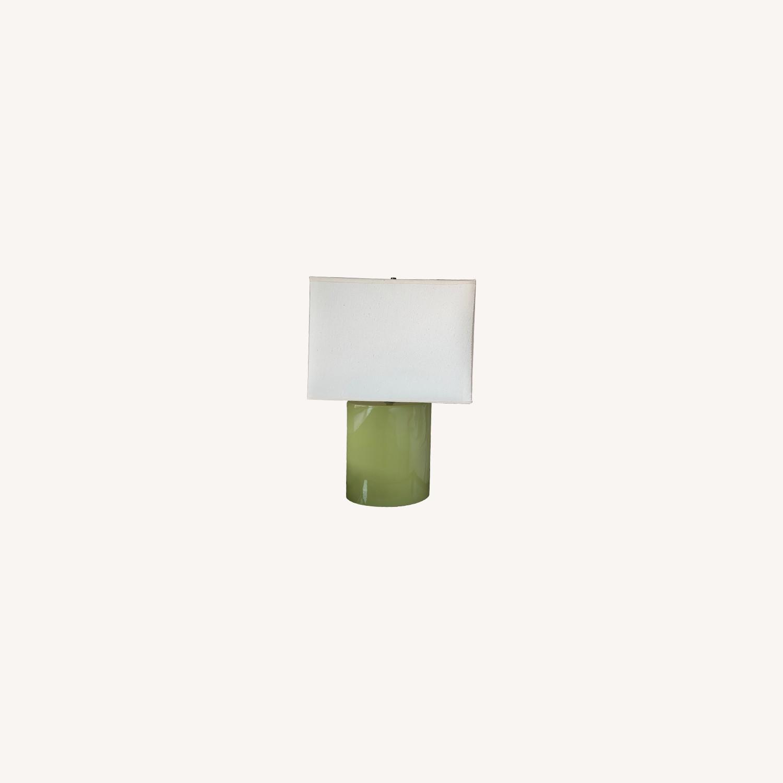Crate & Barrel Green Table Lamp - image-0