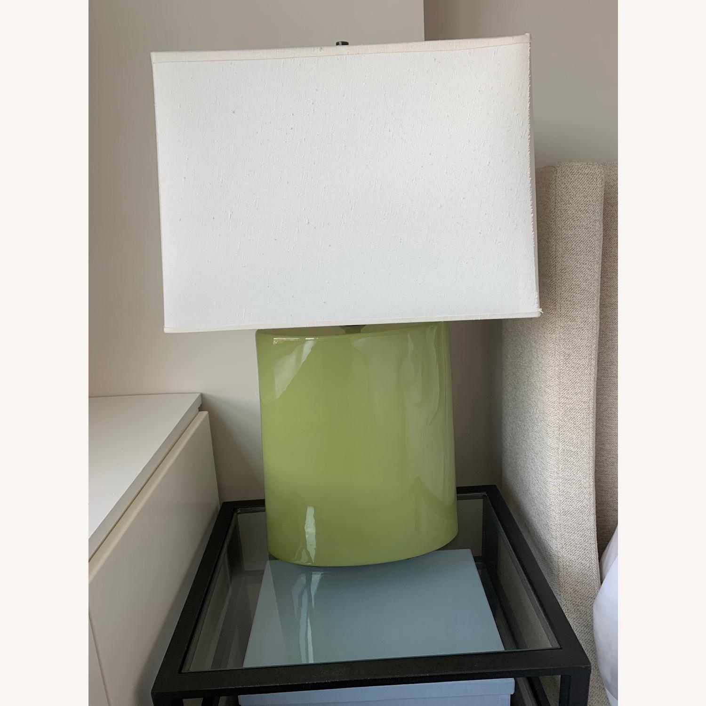 Crate & Barrel Green Table Lamp - image-1
