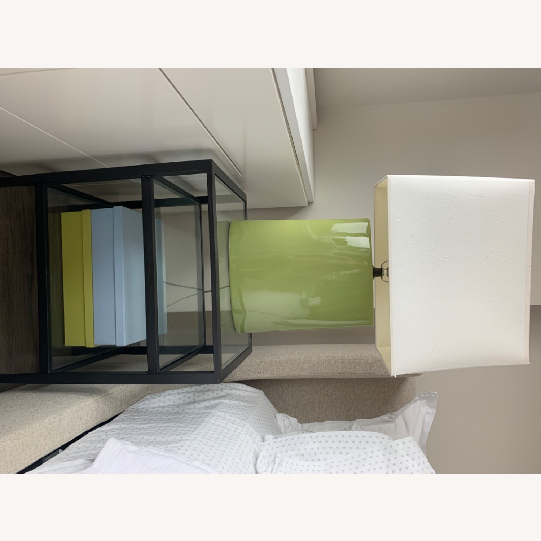 Crate & Barrel Green Table Lamp - image-2